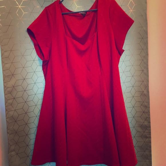 1af716d7cdd73    GWP   Torrid Textured Knit Skater Dress. M 5b68bc57fb380387b4ee0d1e